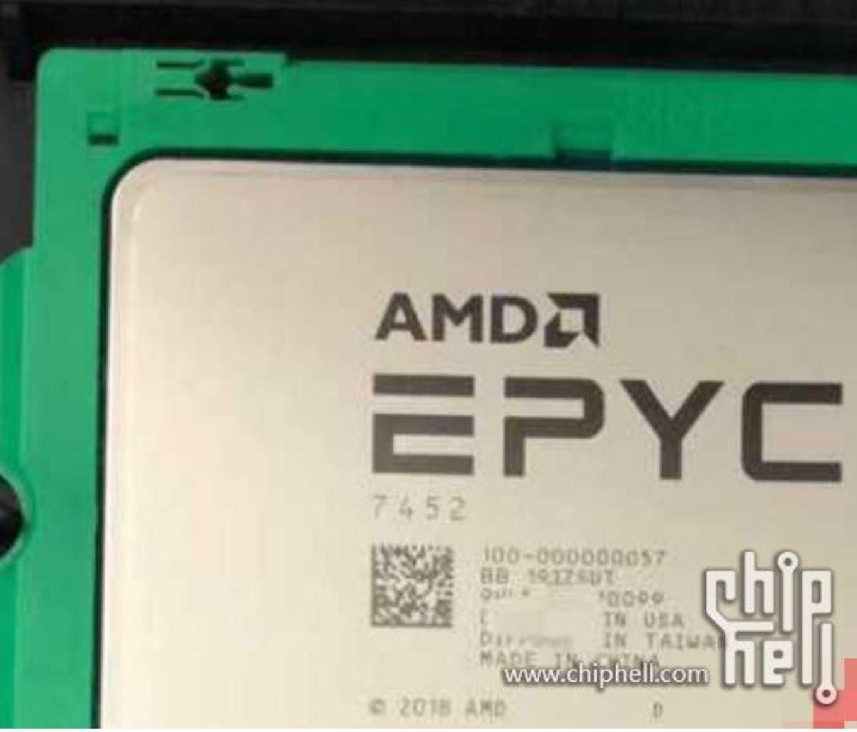 32-ядерный Epyc 7452 от AMD появился в базе данных