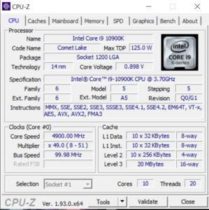 GPUz und CPUz des MSI Trident X