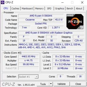 GPUZ und CPUz des ASUS ROG Strix Scar 17 G733QS