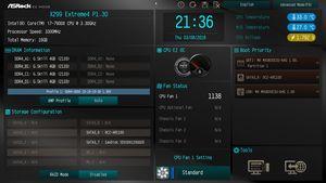 Die UEFI-EZ-Oberfläche beim ASRock X299 Extreme4.