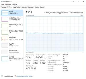 Mining auf einem AMD Ryzen Threadripper