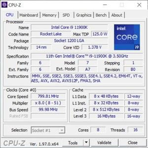 GPUz und CPUz des MSI Aegis Ti5 11th