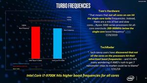 Intel vergleicht das Boost-Verhalten der Prozessoren