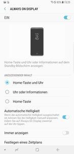 Vom Galaxy S8 hat Samsung die Always-on-Funktion übernommen