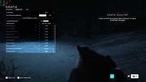 Grafikeinstellungen von Battlefield V