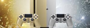 Sony PlayStation 4 in Gold und Silber