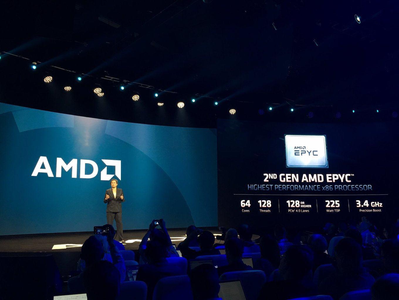 AMD представила серверные процессоры EPYC второго поколения