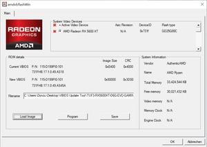 UEFI-Flash einer Radeon RX 5600 XT