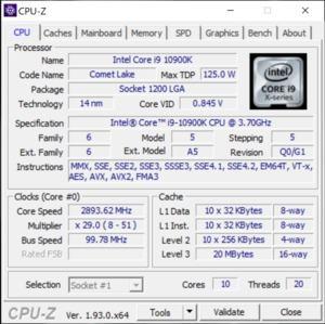 GPUz und CPUz des Alienware Area-m51 R2