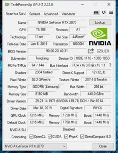 GPUz und CPUz des Medion Erazer X17805
