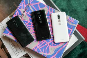 OnePlus 6 in Midnight Black, Mirror Black und Silk White