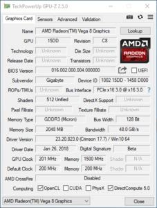 Vega 8 im Ryzen 3 2200G