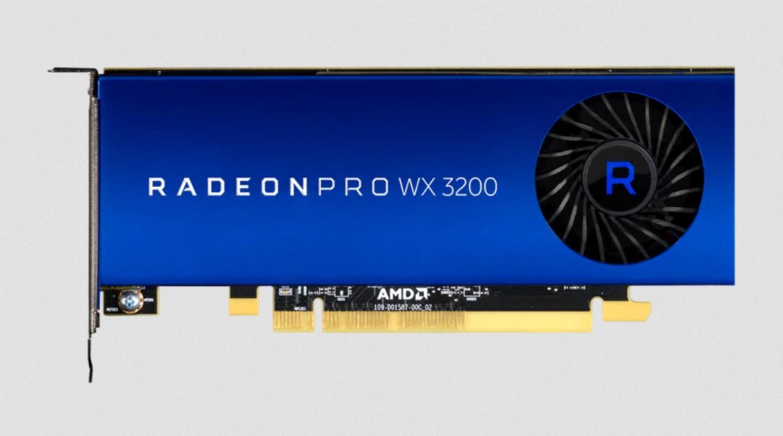 Цена компактной профессиональной видеокарты AMD Radeon ProWX 3200 составляет $200