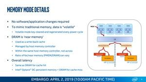 Intel Xeon Scalable und Optane DC Persistent Memory