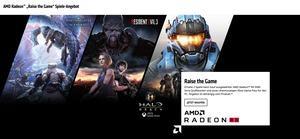 AMD Raise the Game Spiele-Angebot