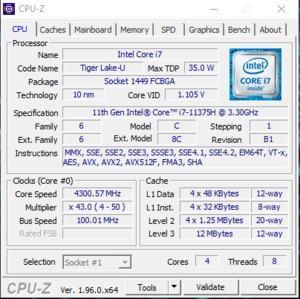 GPUz und CPUz des MSI Stealth 15M