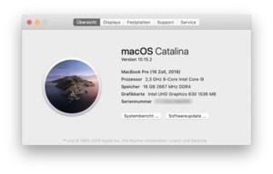 16 Zoll MacBook Pro