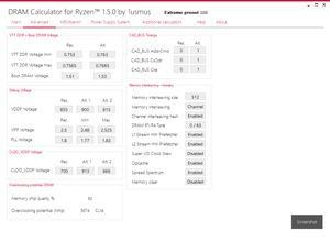 DRAM Calculator für Ryzen 1.5.0