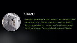 NVIDIA A100 MLPerf 0.7