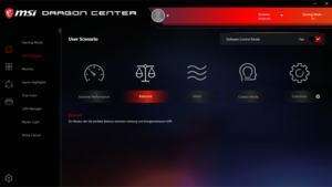 Die Software des MSI Trident X
