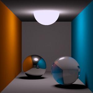 Diffuses Ray Tracing für spiegelnde und brechende Oberflächen (Thomas Kabir, CC BY-SA 2.0 DE)