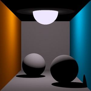 Ray Tracing mit Simulation von Schatten (Thomas Kabir, CC BY-SA 2.0 DE)