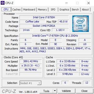 GPUz und CPUz des Acer Predator Triton 500
