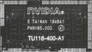 Größenvergleich der TU106- und TU116-GPU