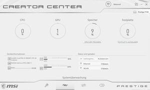 Die Software des MSI Prestige P100 9SF