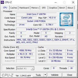 GPUz und CPUz des Gigabyte Aorus 17G XB