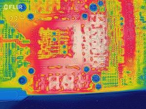 Untersuchungen der Wärmelentwicklung auf einer GeForce RTX 2080 Ti FE