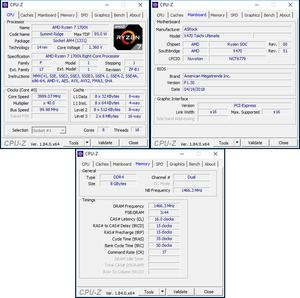 oben links: CPU-OC; unten: RAM-OC mit D.O.C.P