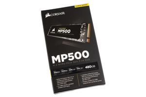 Die Corsair MP500 SSD im M.2-Format mit NVMe.