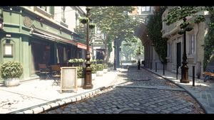 Enscape Lumberyard Bistro-Demo mit Ray Tracing