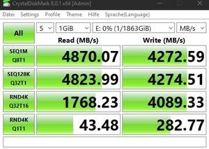 Die M.2-Performance über den Core i7-11700K mit PCIe 4.0 x4.