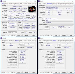 oben links: CPU-OC; unten links: RAM-OC mit Profil; unten rechts: manuelles RAM-OC