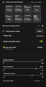 GeForce RTX 2080 Leistungsmonitor