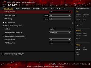 Die UEFI-Advanced-Oberfläche beim ASUS ROG Strix X470-F Gaming