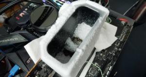 AMD Radeon VII mit Trockeneis (Quelle: der8auer)
