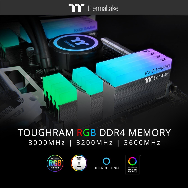 Thermaltake представила память TOUGHRAM RGB DDR4 с частотами