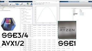 Matlab mit AMD- und Intel-Prozessoren